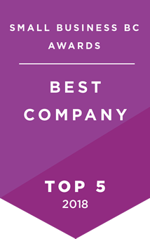 "Wins Top 5 Recognition for the outstanding achievements of BC's entrepreneurs in the ""Best Company"" category 2018"