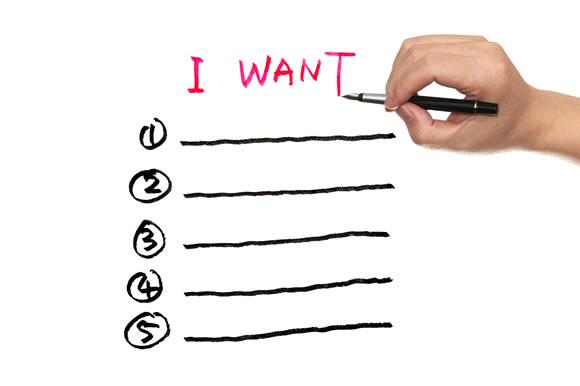 What I want list