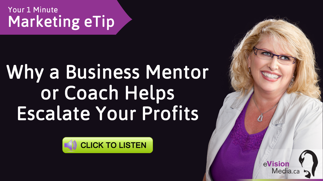 Marketing eTip: Why a Business Mentor or Coach Helps Escalate Your Profits