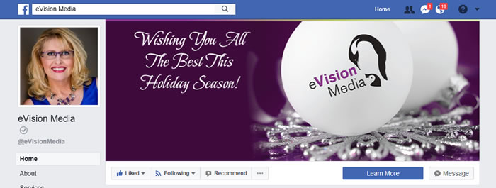 eVision Media Facebook business page
