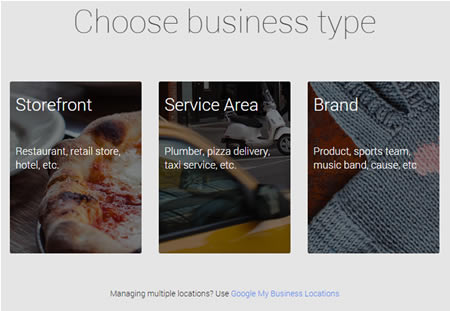 Google+ business options