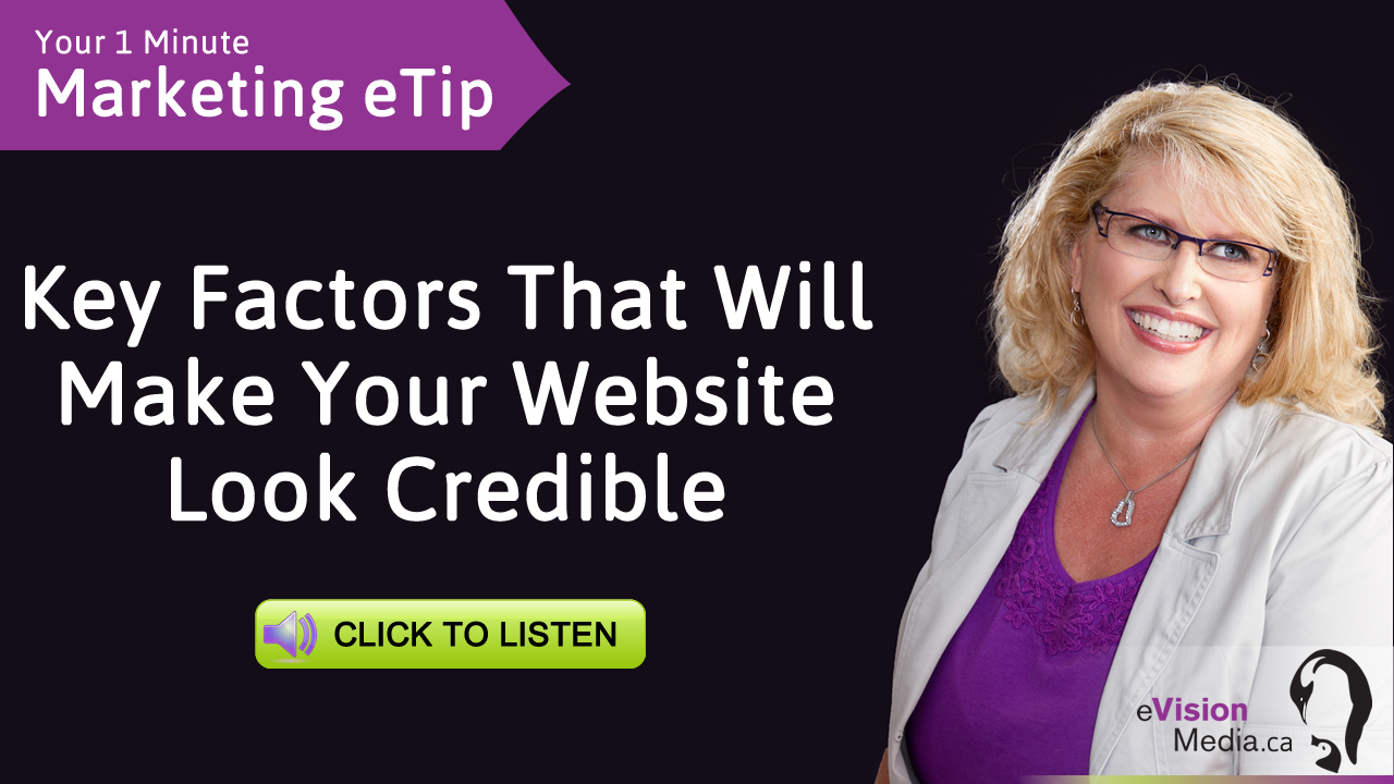 1 Minute Video Marketing eTip: Key Factors To Make Your Website Look Credible