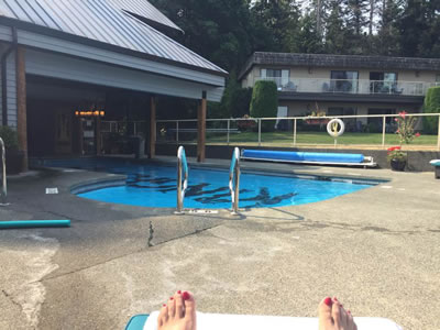 Relaxing at Kingfisher Spa