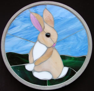Stained glass bunny