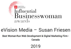 Influential Business Woman Award Best Web Developer 2019