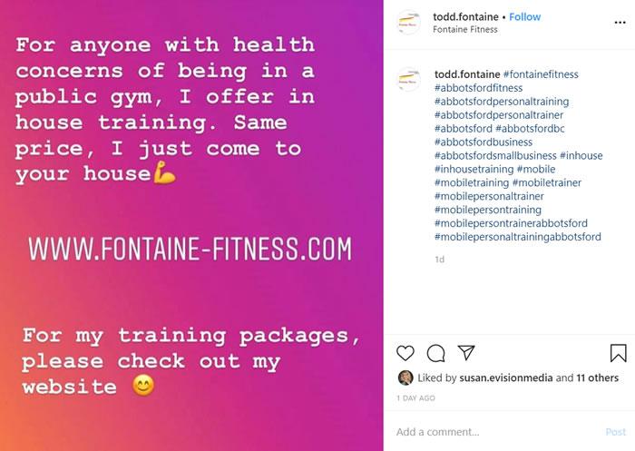 Fitness trainer pivoting